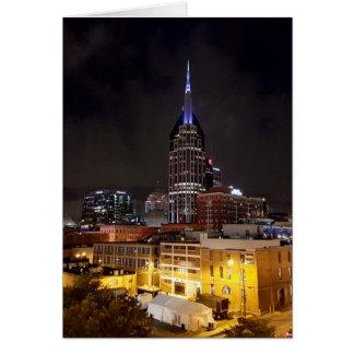 Nashville Night Skyline Card