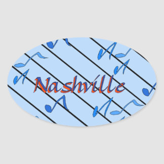 Nashville Notes Blue Oval Sticker