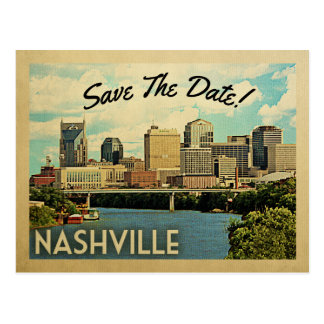Nashville Save The Date Tennessee Postcard