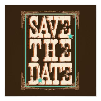 Nashville Save the Date:  Turquoise 13 Cm X 13 Cm Square Invitation Card