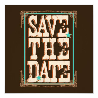 Nashville Save the Date:  Turquoise Card