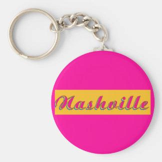 Nashville Script Basic Round Button Key Ring