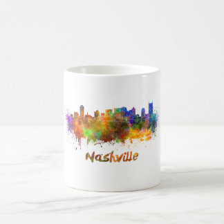Nashville skyline in watercolor coffee mug
