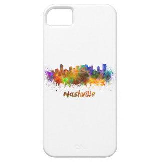 Nashville skyline in watercolor iPhone 5 cases