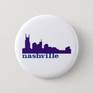 Nashville Skyline Purple 6 Cm Round Badge