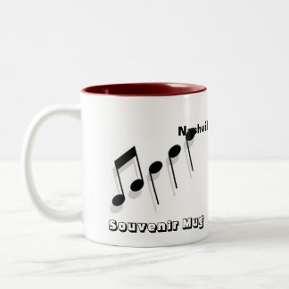 Nashville Souvenir Two-Tone Coffee Mug