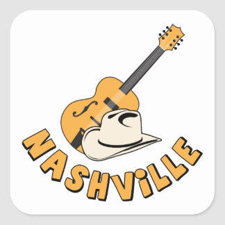 Nashville Square Sticker