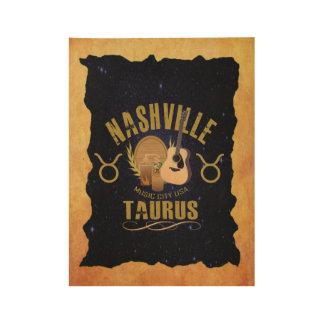 Nashville Taurus Zodiac Wood Poster