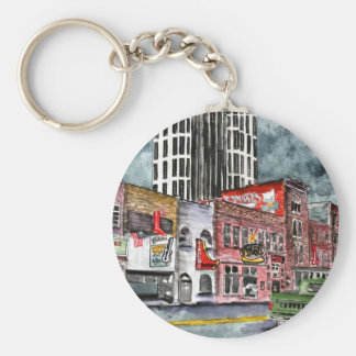 nashville tennessee country music capital art key chains