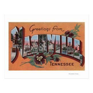 Nashville, Tennessee - Large Letter Scenes Postcard
