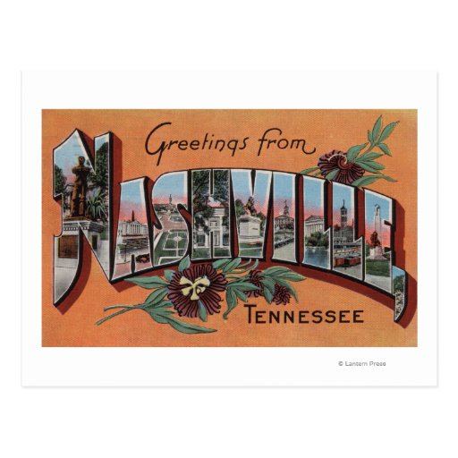 Nashville, Tennessee - Large Letter Scenes Post Card