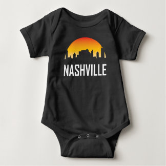 Nashville Tennessee Sunset Skyline Baby Bodysuit