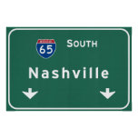 Nashville Tennessee tn Interstate Highway Freeway Poster