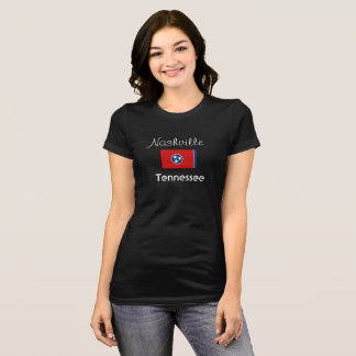 Nashville Tennessee with Flag -- T-shirt