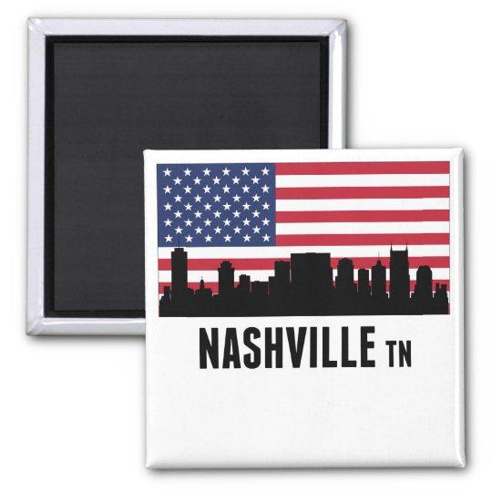 Nashville TN American Flag Magnet