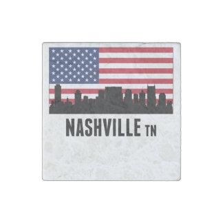 Nashville TN American Flag Stone Magnet