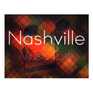 Nashville, TN Music City Postcard