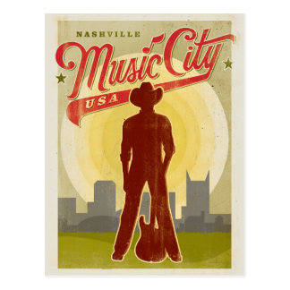 Nashville, TN - Music City USA Postcard
