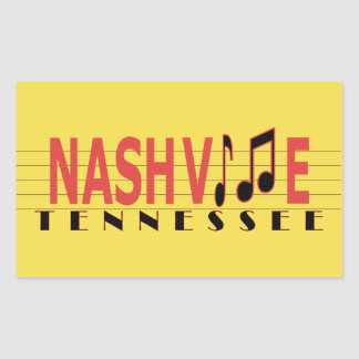 Nashville TN Sticking to the Music Rectangular Sticker