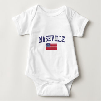 Nashville US Flag Baby Bodysuit