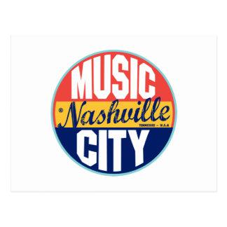 Nashville Vintage Label Post Card