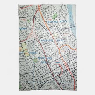 NASHVILLE Vintage Map Tea Towel