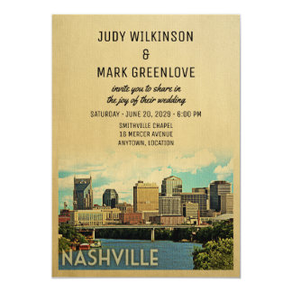 Nashville Wedding Invitation Tennessee