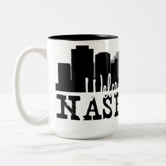 Nashville Welcome Home Two-Tone Coffee Mug