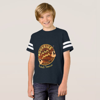 Nashville Zodiac Aquarius Boy's Football T-Shirt