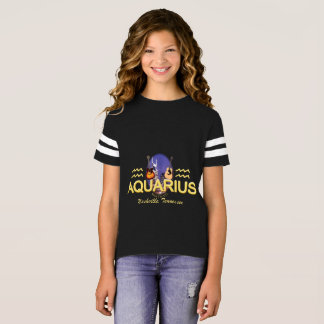 Nashville Zodiac Aquarius Girl's Football Shirt