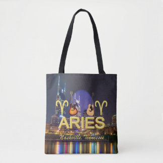 Nashville Zodiac Aries All Over Print Tote Bag