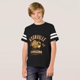 Nashville Zodiac Capricorn Boy's Football T-Shirt
