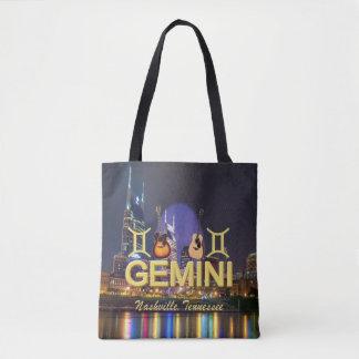 Nashville Zodiac Gemini All Over Print Tote Bag