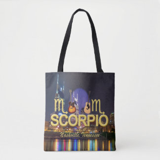 Nashville Zodiac Scorpio All Over Print Tote Bag