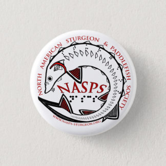 NASPS Logo Button-White 3 Cm Round Badge