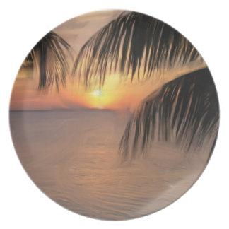 nass sun set Plate