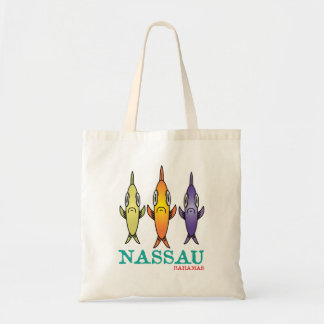 Nassau Bahamas 3-Fishes Tote Bag