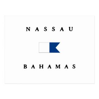 Nassau Bahamas Alpha Dive Flag Postcard