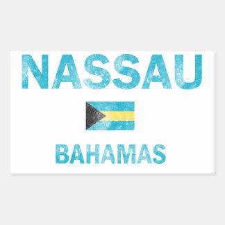 Nassau Bahamas Designs Rectangular Sticker