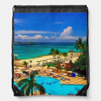 Nassau, Bahamas Drawstring Bag