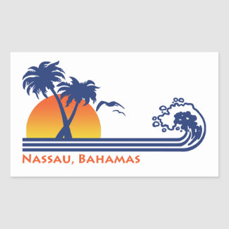 Nassau Bahamas Rectangular Sticker