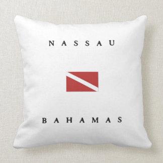 Nassau Bahamas Scuba Dive Flag Throw Pillow