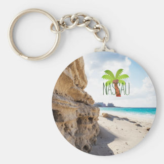 Nassau Beach Key Ring