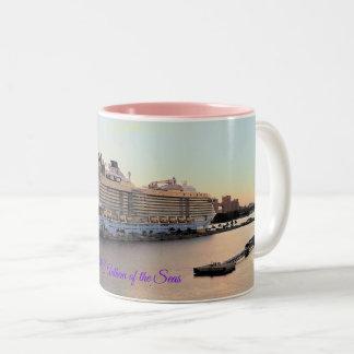 Nassau Daybreak and Cruise Ship Custom Two-Tone Coffee Mug