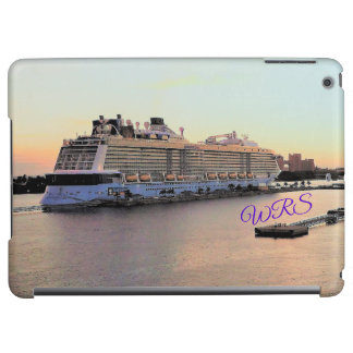 Nassau Daybreak with Cruise Ship Monogrammed Case For iPad Air
