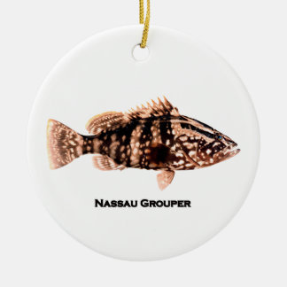 Nassau Grouper Ceramic Ornament