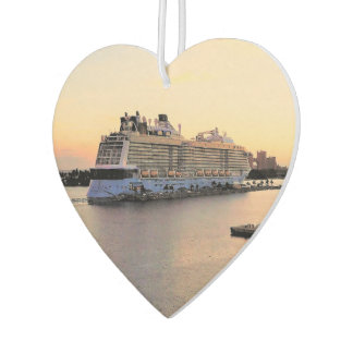 Nassau Harbor at Daybreak with Cruise Ship Car Air Freshener