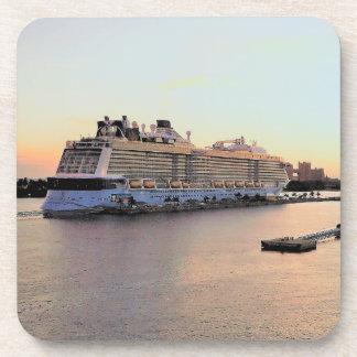 Nassau Harbor Daybreak and Cruise Ship Coaster