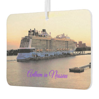 Nassau Harbor Daybreak and Cruise Ship Custom Car Air Freshener