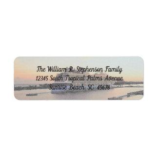 Nassau Harbor Daybreak Cruise Ship Personalized Return Address Label